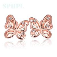 Cheap Free postage Best Butterfly modelling stud earrings
