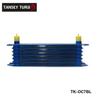 Wholesale Tansky rows mm thick aluminium universal oil cooler For Universal With No Logo have in stock TK OC7BL