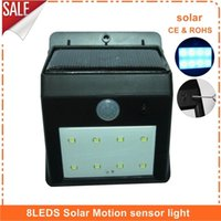 Wholesale 8 LEDS solar light luminaria outdoor lamp garden light luz solar lights waterproof led solar garden light para jardim house