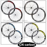 Wholesale Super team mm Wide mm Clincher carbon bike wheels carbon road bicycle wheelset colour decals option