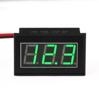 Wholesale 5 DC V Volt Meter Green Led Display Digital Voltmeter DC V V Voltage Monitor for Car Motorcycle E bike etc