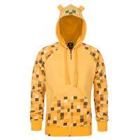 full zip hoodie - Hot Minecraft Ocelot Enderman Autumn boys Hoodie Sweatshirt Camouflage minecraft Costume with Zipped coat Bodysuits Youth Kids XS XL