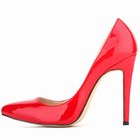 ladies shoes - 2015 CM Spike Heels Candy Color Shallow Flats Ladies Shoes Fetish Pumps High Heels Evening Party Dress Shoes Sandals Women Shoes