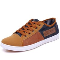 Wholesale 2015 new arrival plimsolls canvas shoes men breathable Fashion patchwork men s sneakers lace up platform casual gumshoe