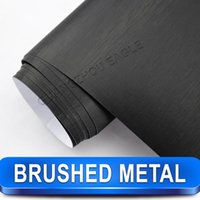 Wholesale New Arrival BLACK Metallic BRUSHED ALUMINUM Vehicle Wrap Vinyl Film Car Sticker Air Channel best Car Styling