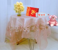 Wholesale 10 package Waterproof White red Disposable Tablecloth Table Cloth Imitation Silk One Time Table Covers