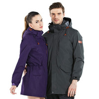 Wholesale Newest lovers length thickness outdoor jacket men s waterproof skiing wear women s fleece windproof hiking cmaping sports jacket
