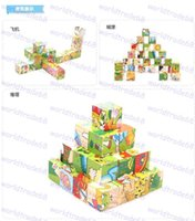 Wholesale children s educational toys wooden d puzzle baby wooden blocks design