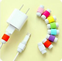 Wholesale 2016 new Lightning I line set Iphone data cable savior for iPhone S C plus Charging Cable Protector Saver
