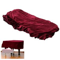 Wholesale Durable Grand Piano Pleuche Bordered Dust Protective Cover Cloth Dark Color Resistant to Dirt Soft Material order lt no track