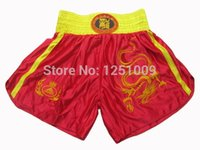 Wholesale Dragon Embroidery Martial Art Muay Thai Kick Boxing Shorts MMA Training Pant