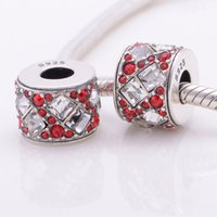 Wholesale Genuine S925 sterling silver jewelry set red crystal jasper beads charm fits bracelets necklace X310 A6