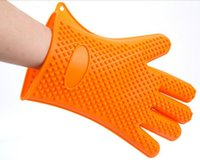 oven mitt gloves - Heat Resistant Silicone Glove Cooking Baking BBQ Oven Pot Holder Mitt Kitchen