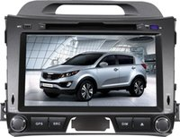 dual cd player - 8 inch Special Car DVD Player For KIA Sportage R with GPS IPOD Bluetooth Steering Wheel control PIP dual zone RADIO TV