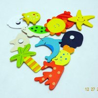best kids puzzles - Children s Wooden Toys Educational Toys Early Childhood Mental Cartoon Cute Fridge Magnet Puzzle for Kids best gift E453J