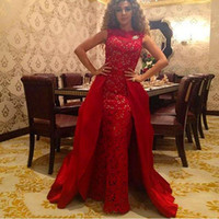 Wholesale 2015 Hot Sheath Ruffles Celebrity Evening Dresses Arabic Muslim Myriam Fares Lace A Line Ball Gown Floor Length Evening Gown