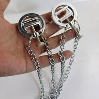 Wholesale Sex Games Use Sex Plastic Nipple Stimulate Nipple Clips With Metal Chain Nipple Teaser Sex Toys For Her