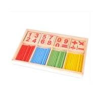 Wholesale Montessori Wooden Number Math Game Sticks Educational Toy Puzzle Teaching Set Materials best teaching for children