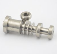Wholesale 14 mm male adjustable Highly Educated Grade Titanium Domeless E Nail Nail for mm Enail Coil