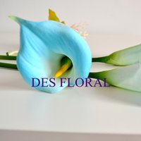 artificial calla lily bouquets - Real Touch Flowers M Calla Lily PU Artificial Flower for Wedding Bouquet and Decoration