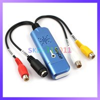 Wholesale Blue Color Easycap Video Capture Adapter DVR Card with Audio CVBS S Video