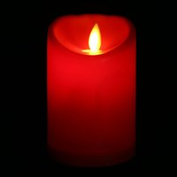 Wholesale Warm Red LED Candle Lamp Oblique Swing Wave Flickering Flameless LED Tealight Votive Candle Party Lights With Plastic