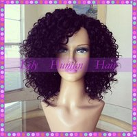 big blonde wig - Lily Hair Brazilian Virgin Kinky Curly Full Lace Wigs Human Hair Glueless Lace Front Wigs For Black Women Stock density Lace Wigs