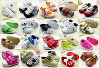 Wholesale Baby Boy s Girl s soft shoes Buckle Strap Lace up toddler shoes Kids Babies first walker shoes