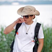 Wholesale 2015 Hot Men Military cap Boonie Wide Brim Bucket Sun Hat Cap Woodland Camo New hat free ship