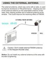 Wholesale tecsun Antenna AN for TECSUN Radio Receiver Antenna tecsun PL PL PL ET antenna for digital radio