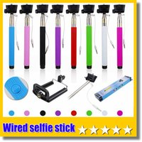 Wholesale Update Version Groove Z07 Plus Cable take pole Handheld Camera Monopod Wired Selfie stick For SAMSUNG Android Phone IOS iphone Plus