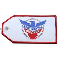 Fabric airline continental - Continental Airlines Personalized Embroidery Luggage Tag Unique Travel Tag per