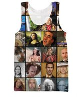 basketball cage - w151231 RuiYi Nicolas Cage Rage Faces Tank Tops Hollywood notorious movie stars turned internet meme Basketball Vest Sexy Jersey