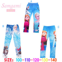 brand clothes kids - Spring Autumn Baby Girl Leggings Frozen Legging Cotton Legging frozen costume kids baby brand clothing kids Pencil Pant kids pants