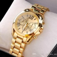 led watches - Hot MK Watches Led Watch Mens Business Stainless Steel Metal Belt Rome Dial Gold Watch Fashion Womens High grade Quartz Watches