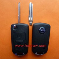 Wholesale Opel button flip remote key blank with left blade