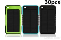 Wholesale 30X Waterproof Solar Charger mah Solar Power Bank External Battery for smartphone ipad camera iPhone Samsung TY