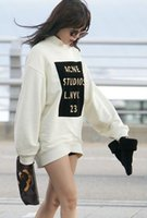 brand fashion tracksuits - Hoodies fall new brand womens fashion hoodies pullover gold letters printed loose sweatshirt women turtleneck long sleeve tracksuit