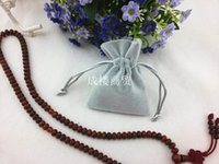 Wholesale Upscale plush gray flannel bags jewelry gift bags spot factory direct