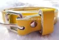 achat en gros de bonbons jaunes prix de gros-Gros-Livraison gratuite! Prix usine! 2,015 Mignon cuir Bonbons Couleur Faux Fashion Nouveau Style Femmes Skinny Belt filles Ceinture Jaune S1-19