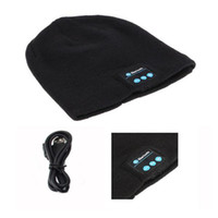 Wholesale quality Bluetooth Music Hat Soft Warm Beanie Cap with Stereo Headphone Headset Speaker Wireless Microphone V887