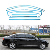 Wholesale Full Window Trim Decoration Strip Car Accessories For Volkswagen Passat B7 sedan Stainless Styling