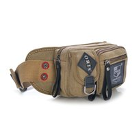 Wholesale Men women vintage fashion waist bag canvas casual shoulder bag hiking cycling sports travel beach plain luxury multifuncition crossbody bag