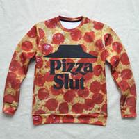 autumn foods - Shipping free new men women s D sweatshirt print Pizza Slut Breaking Bad funny food sweatshirts autumn spring hoodies