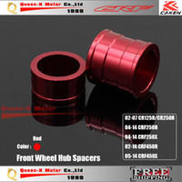 Wholesale Billet Aluminum Front Wheel Hub Spacers Fit CR125 R CRF250 XR CRF450R X Motorcross Dirt Bike Motorcycle Parts order lt no t