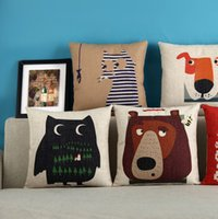 Cheap Quilt pastoral creative cartoon owl office on waist cushion pillow Pillowcase