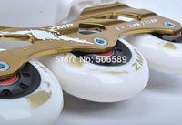 Wholesale roller skates adult rich golden color roller skates ice skates hockey skates in one shoes