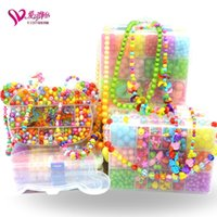 Wholesale Love can bracelets jewelry DIY material pack puzzle toys scattered beads handmade beaded necklace CZ103 girl child