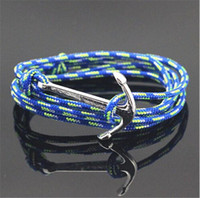 Acheter Infini mens bracelet-Anchor Breloque Infinity Wrap Crochet Avec Paracord Bracelet nautique Pour Hommes Et Femmes Miansai style