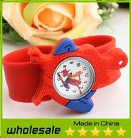 Wholesale 2014 New Fashion DIY Animal Slap Kids watch spiderman Cartoon watches Children Cute Watches